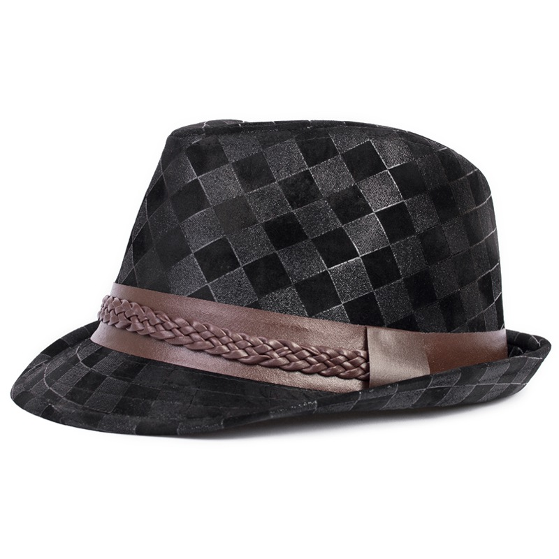 Get Quotations · NEW 2105 Summer Style fashion straw fedora hats Jazz Caps  British retro plaid jazz hat tide 197aabc9c00
