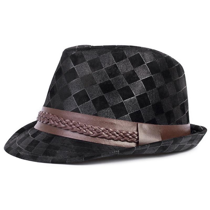 Get Quotations · NEW 2105 Summer Style fashion straw fedora hats Jazz Caps  British retro plaid jazz hat tide 197aabc9c00