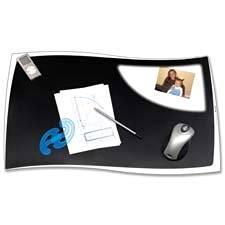 "Desk Mat, 24-4/5""x16-1/2"", .55mm Thick, Black, Sold as 1 Each"