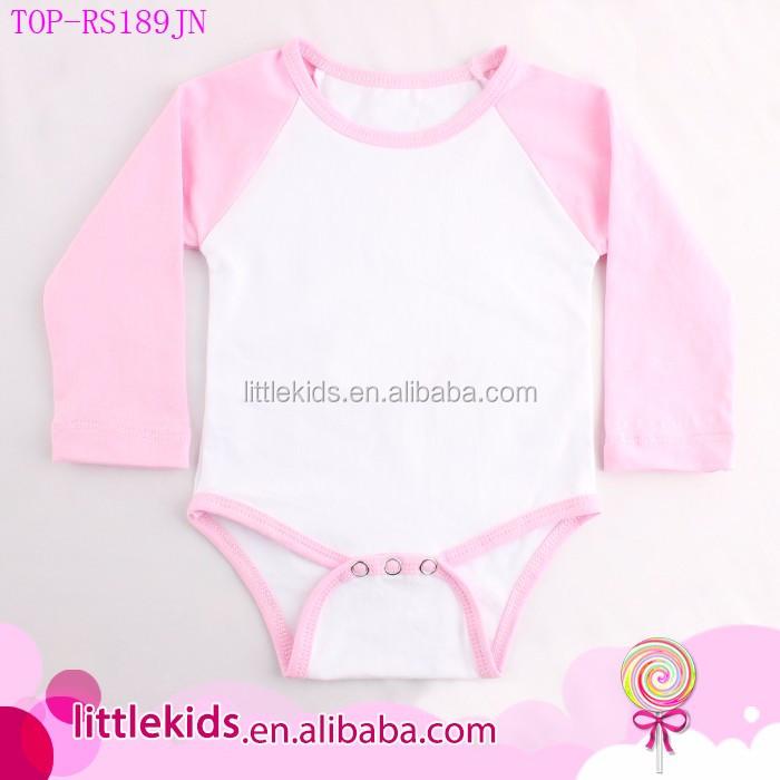 425dc7557 Unisex Newborn Baby Infant Toddler Blank Baseball Jersey Romper Raglan  Onesie Short Sleeve Bodysuit
