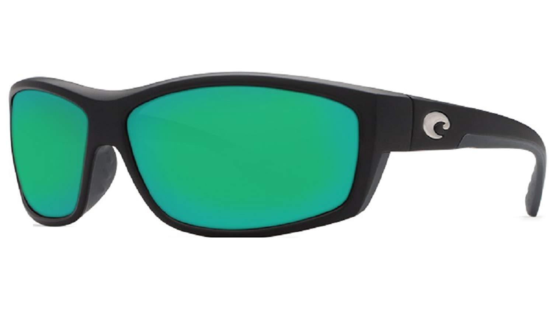 7a93cfe8a13 Get Quotations · Costa Del Mar Saltbreak 580G Matte Black Green Mirror Polarized  Sunglasses