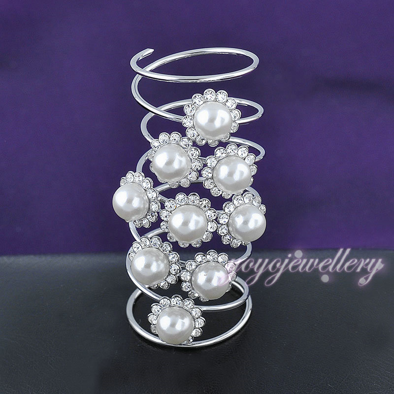 best selling products long finger ring with crystal and pearl gold