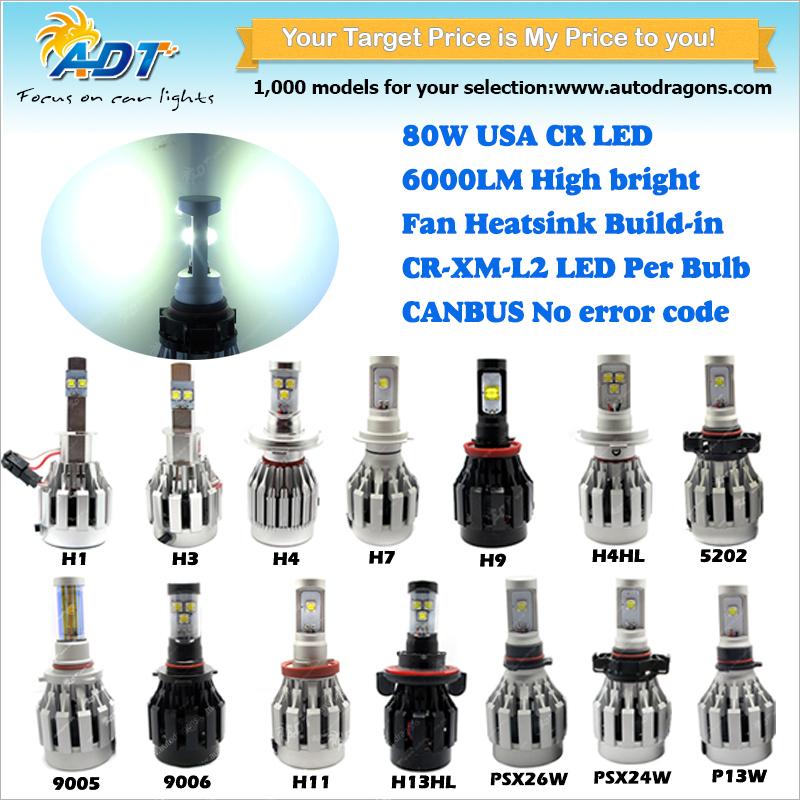 Wholesale Price 2 Bulbs 80w 6400lm Car Light D2s D4s D2r D4r Usa ...