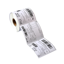 "Printer Direct Thermal Shipping Labels White 4"" x 6"" 250/roll for Zebra"