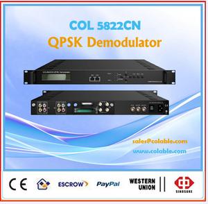 RF Demodulator QPSK IP output,Decryption Satellite Receiver ,IRD COL5822CN