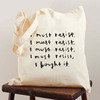Personalized Shopping Bags Logo Clutch Cotton Canvas Tote Bag