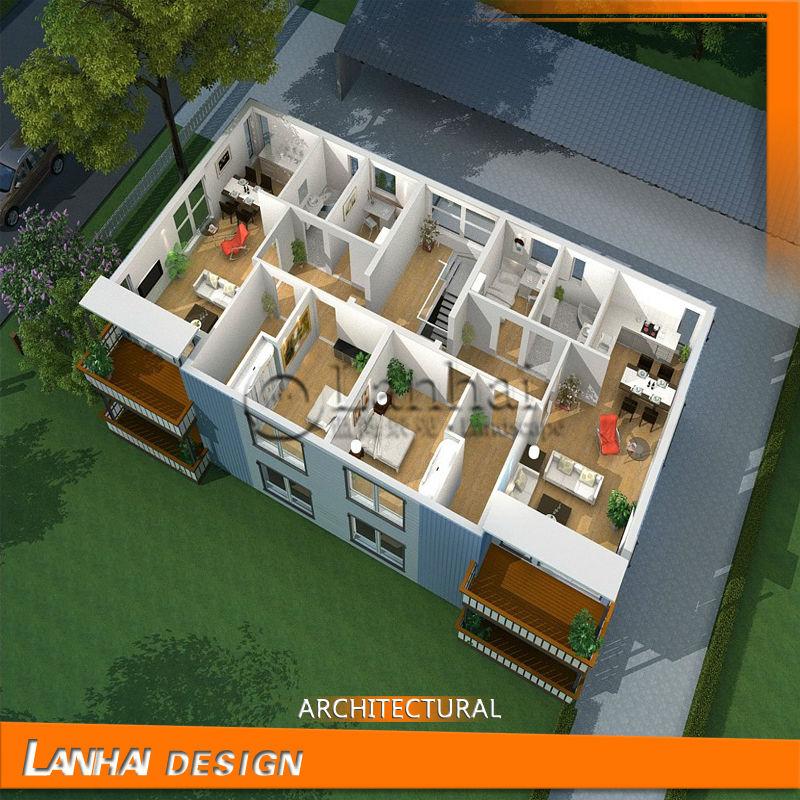 3d interieur huis ontwerpen plattegronden architectuur for Huis in 3d ontwerpen