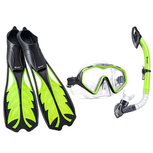 Factory price professional diving equipment set fins swimming mask snorkel fin