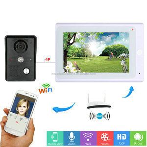 7inch Wireless/Wired Wifi IP Video Door Phone Doorbell Intercom Entry System with IR-CUT HD 1000TVL Wired Camera Night Vision,Su