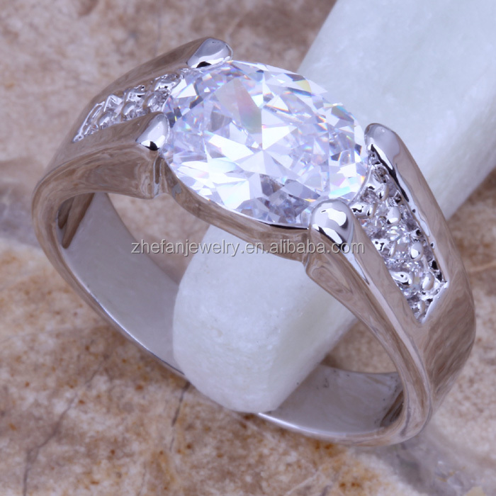 Men's silver rings gay engagement rings brass jewelry