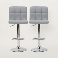 High Quality Adjustable Cheap PU Bar Stools for Sale Modern Chair