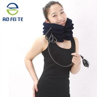 2018 New Design Inflatable Air Neck Brace Adjustable Soft Cervical Traction Neck Traction with Low Price