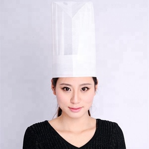 Round Top Paper Chef Hat Cooking Cap