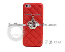 2013 New design silicone case with crown for 4g