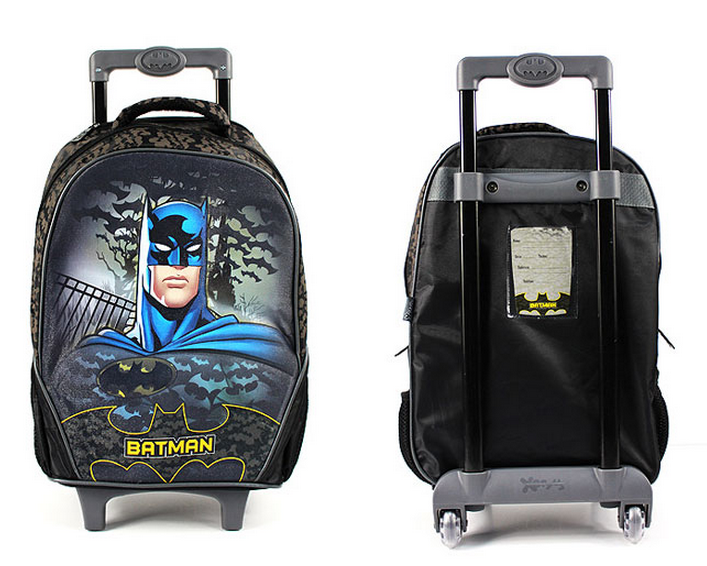 Wholesale Kids Cartoon Batman Children Rolling Luggage Case