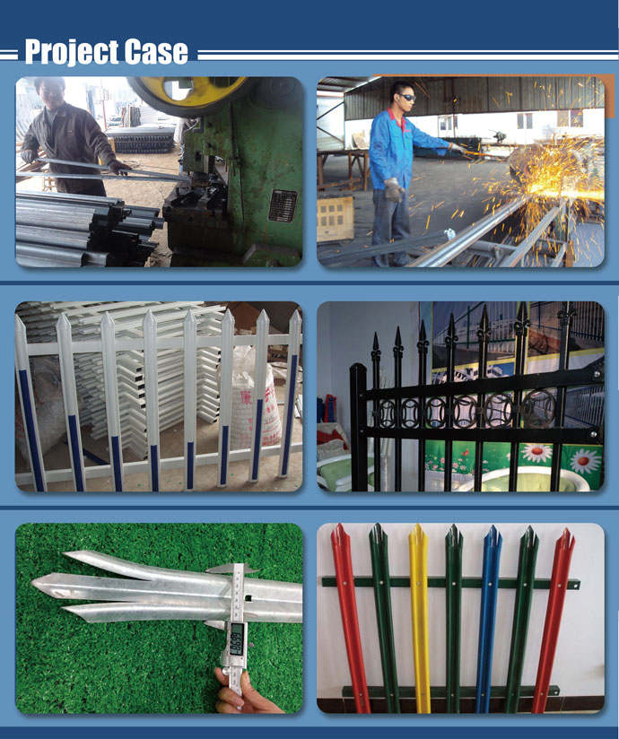 Made In Guangzhou Galvanized Steel Picket Fence