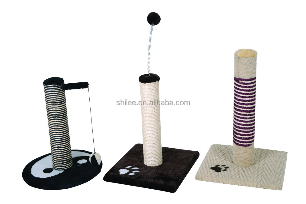 Sisal Cat Pet Scratching Post Toys With Paw