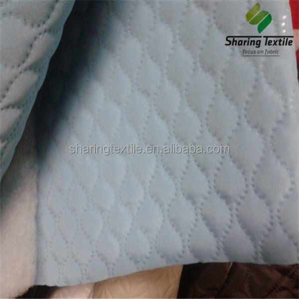 Ultrasonic quilted fabric/Ultrasonic quilted fabric for mattress/Polyester ultrasonic quilted fabric