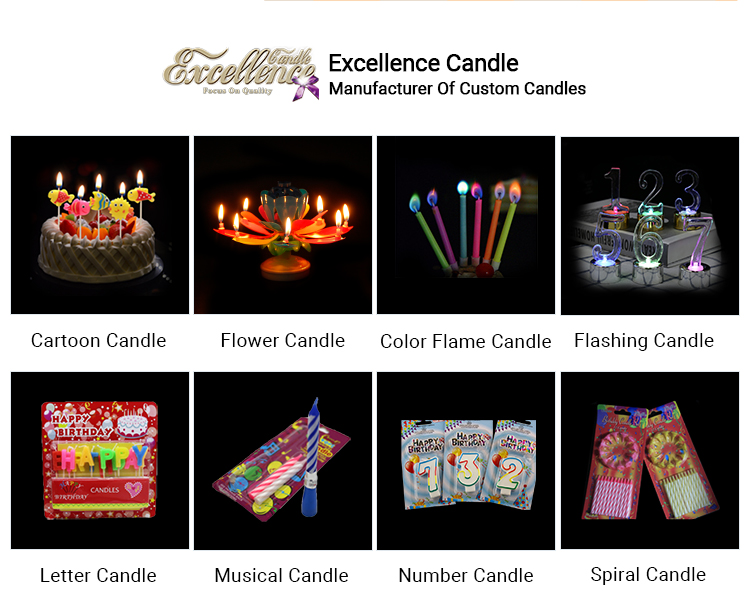 New packaging birthday number candle hot sale
