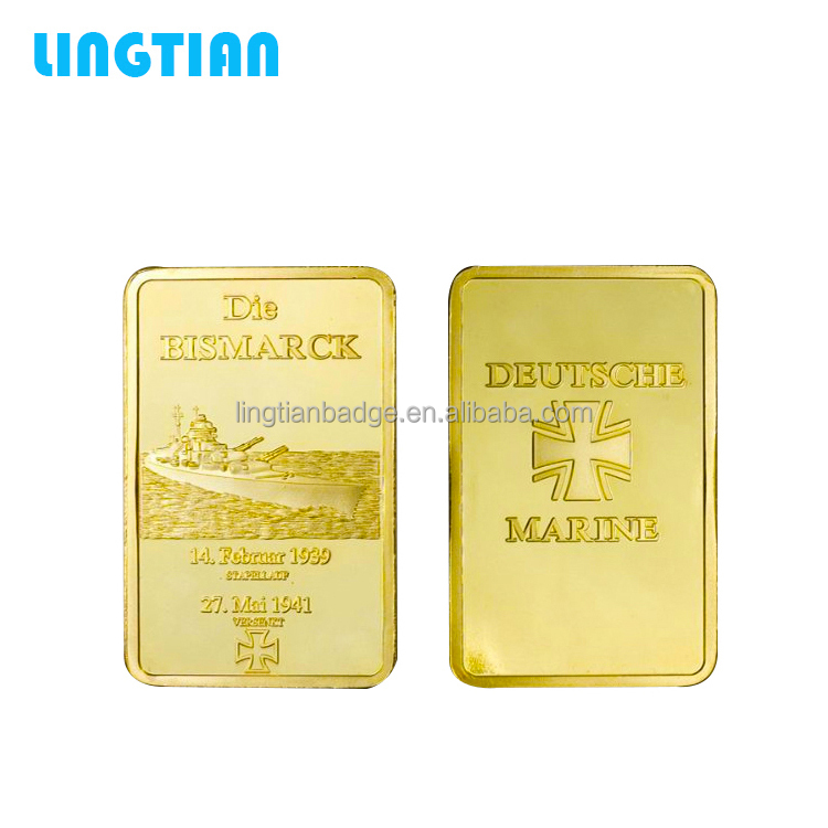 LINGTIAN Crafts Custom Made Replica 1OZ Gold Plated Bullion Bars