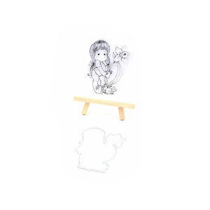 2018 New Transparent Clear Silicone Stamps and Metal Cutting Dies for DIY Scrapbooking Card Making Photo Album girls