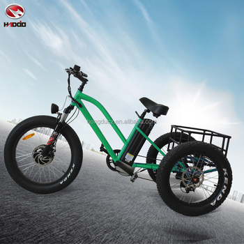 Fat Tire Bicycle Electric Beach Tricycle 3 Wheel Mountain Bike