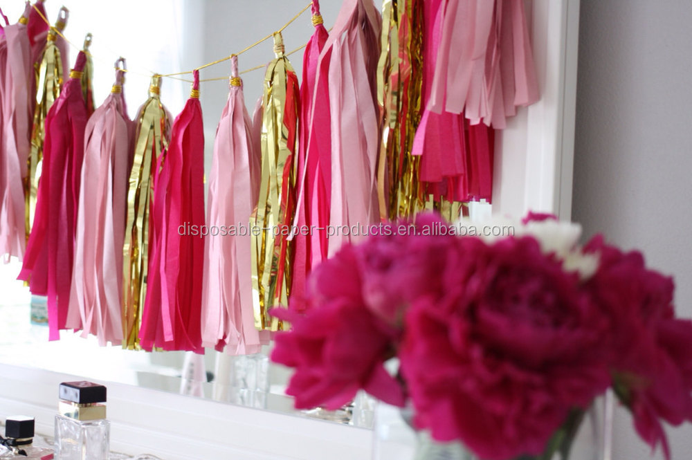 New pink and gold tassel garland pink theme party decorbirthday new pink and gold tassel garland pink theme party decor birthday party wedding junglespirit Gallery