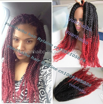 Stock Price 20 Folded Black Red Synthetic Ombre Marley