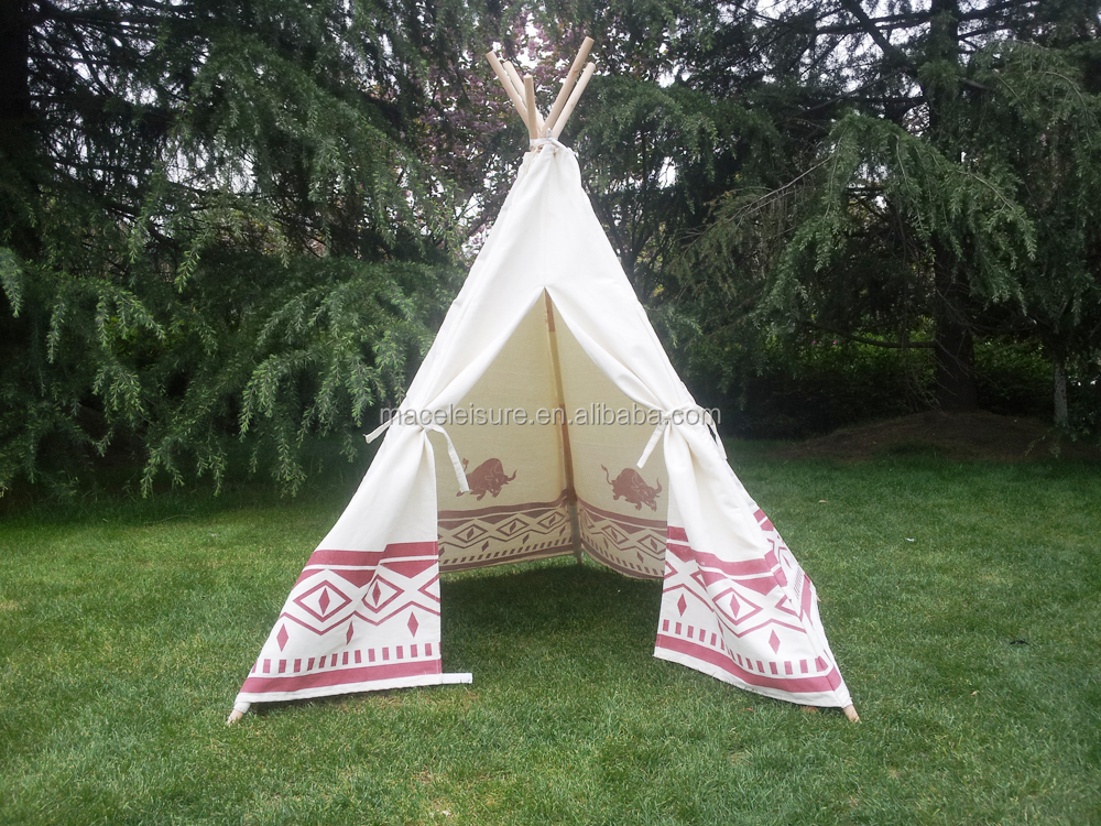 Hot sale cotton canvas indian tents for children / kids playing indian teepee tent & Hot Sale Cotton Canvas Indian Tents For Children / Kids Playing ...