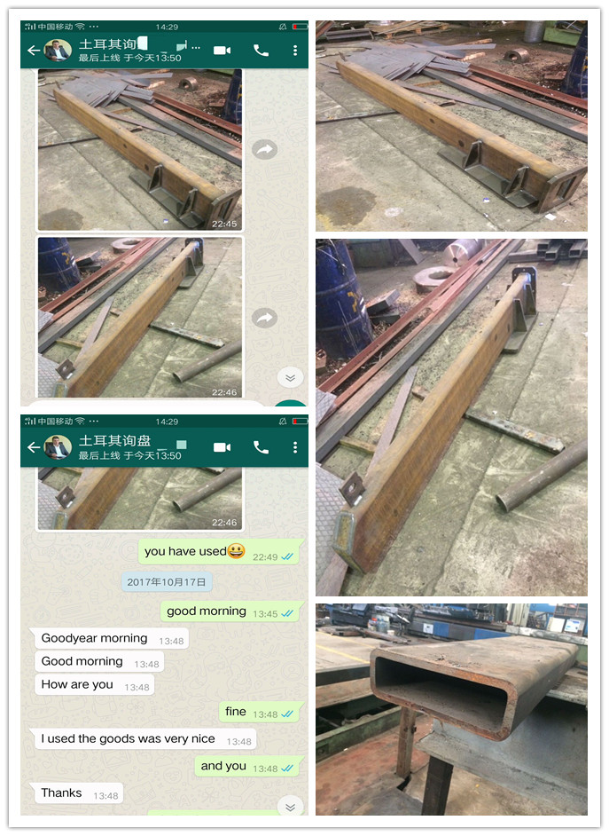 ST52 Carbon Seamless Steel Square Pipe