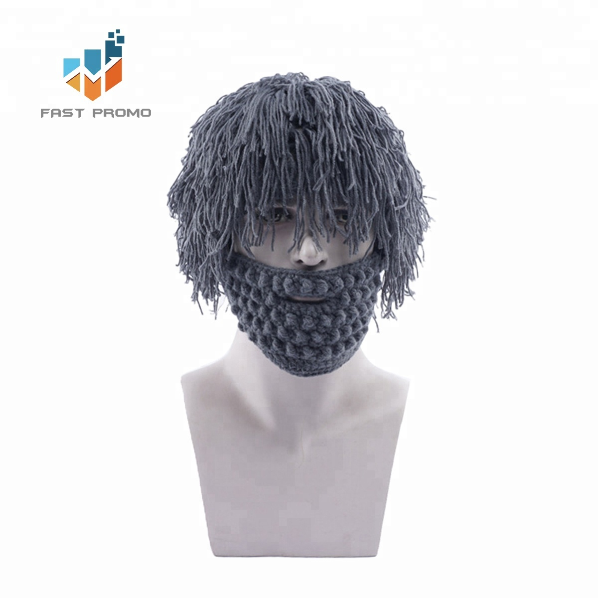Customize Adult Holiday Wig Hat Beanie And Beard Knit Set - Buy ... ac99f31340e