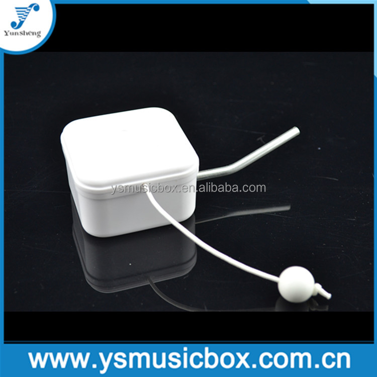 White plastic Yunsheng pull string Music Box for plush toy