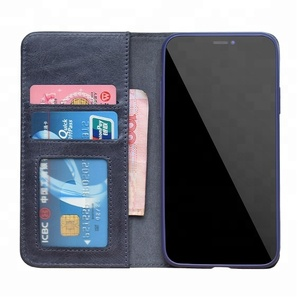 low price customizable luxury leather folio case for iPhone x / xs / xs MAX / XR