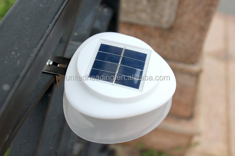 2018 newest solar powered outdoor UFO solar wall led light