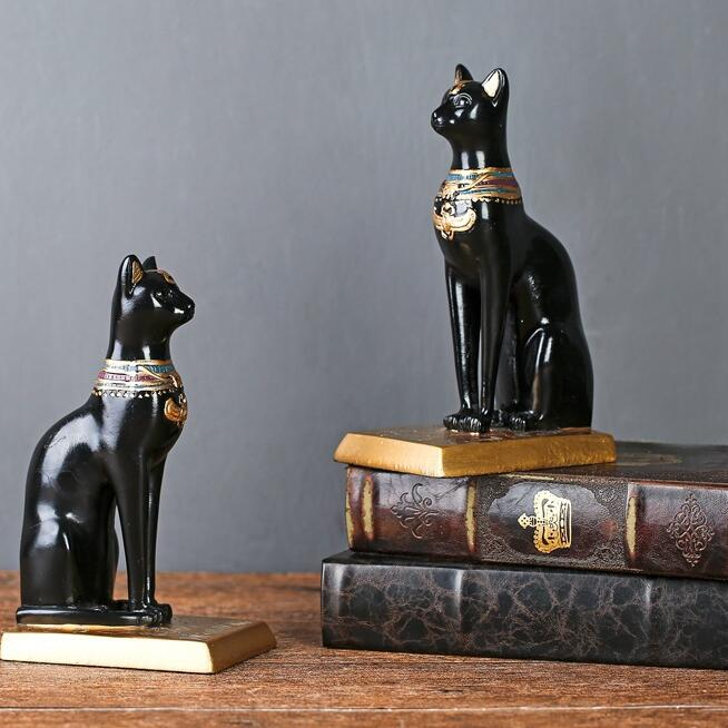 bastet egyptian cat painted goddessresin ornaments statue decoration for wedding gift