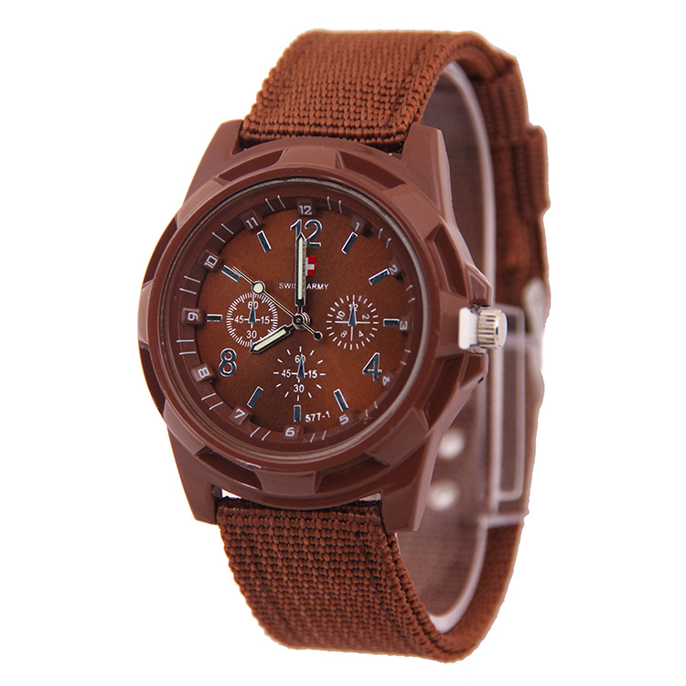 Luxury Sport Men Brand Watches Army Military Style Quartz Analog Clock Fabric Strap Wristwatches <strong>Date</strong>
