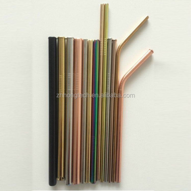 2018 hot sale bar accessory scratch resistant stainless steel straw