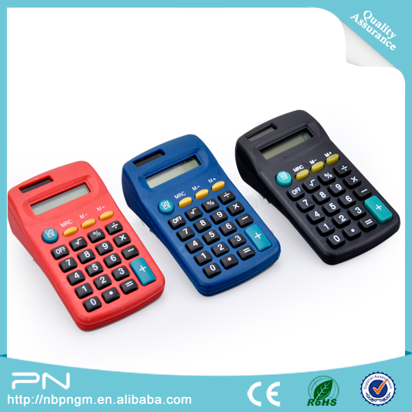 solar power mini plastic gift products electronic pocket calculator