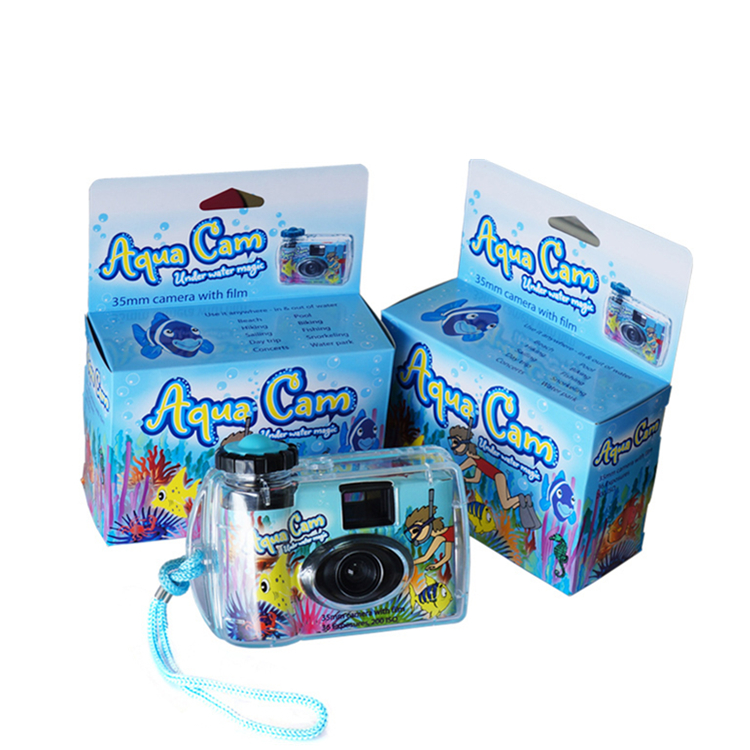 3meter Underwater Disposable Camera With Fuji Color Film 36exp Without Flash Focus Free Customized Paper Print