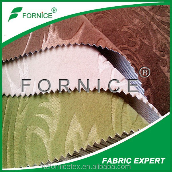 Chinese factory 100% polyester crown upholstery fabric