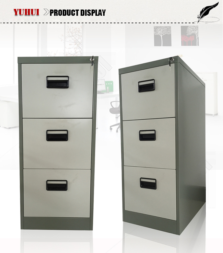 Classic office use metal steel 3 drawers filing cabinet for Kitchen drawers for sale