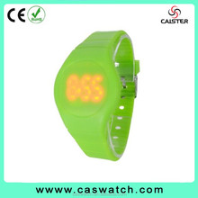 Top-selling new time blink led watch, fashion touch-screen sports digital watch, Multi-color rubber band silicone led watch