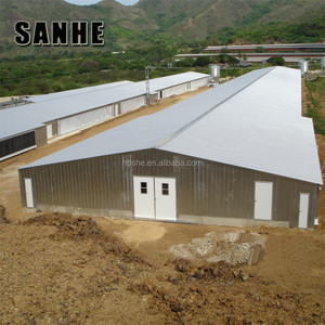 Light steel structure poultry shed chicken house designs prefab house for 10000 broiler