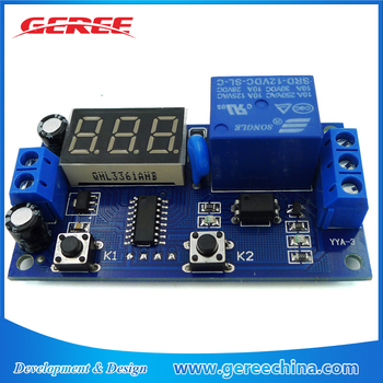 Electrical Dc 12v Time Relay Module Digital Display Trigger Cycle Time  Delay Relay Module Board - Buy Cycle Timer Delay Relay,Timer Relay,Time  Relay
