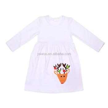 Children Baby Girl Christmas White Dresses Infant Baby Dress