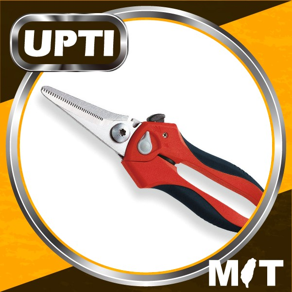 "Taiwan Made High Quality 8"" Multi-Purpose Heavy Duty Garden Shears With Wire Cutting Notch"