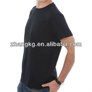 Black cotton t shirt ,180g 100%cotton plain blank tee shirts ,ring spun t -shirts
