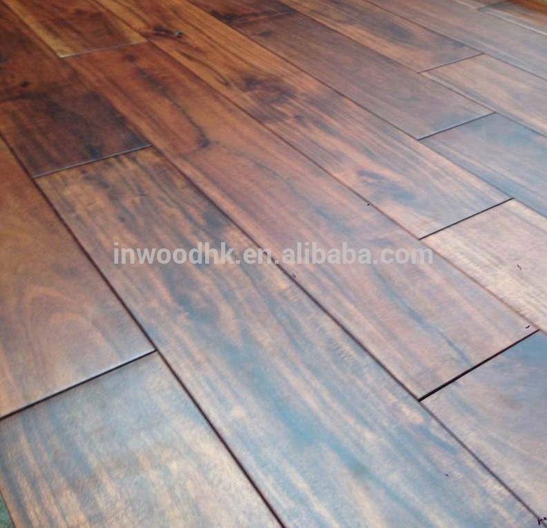 Solid Small Leaf Large Leaf Acaciaasian Walnut Hardwood Flooring