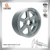 China customized aluminium belt pulley metal alloy casting wheel pulley for conveyor