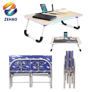 folding metal bed with wheels Foldable Laptop Table Tray Desk Stand Bed Sofa Couch for children